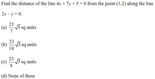 UPSEE Straight lines Question 3