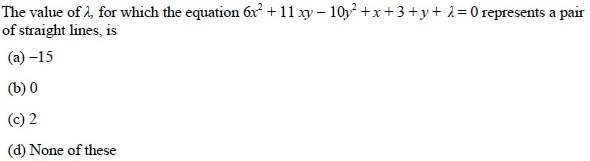 UPSEE Straight lines Question 4