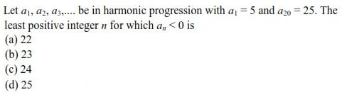 UPSEE Sequence and Series question 1