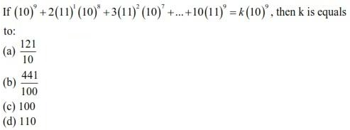 UPSEE Sequence and Series question 3