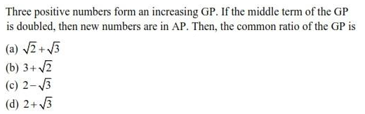 UPSEE Sequence and Series question 4