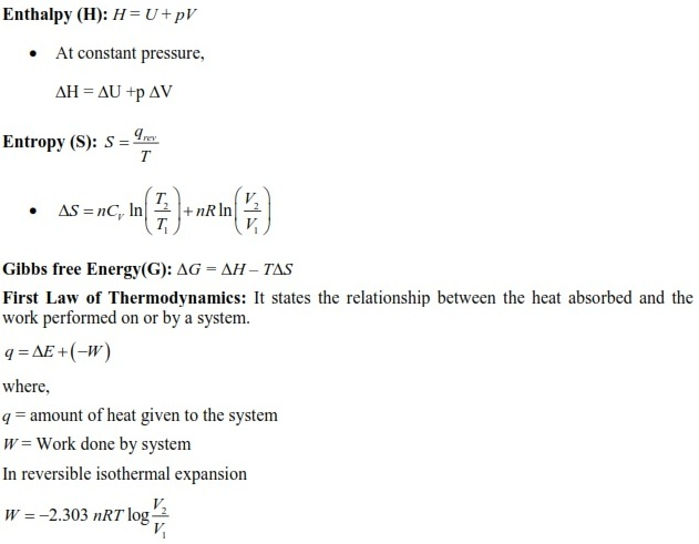 UPSEE Thermodynamics Concepts