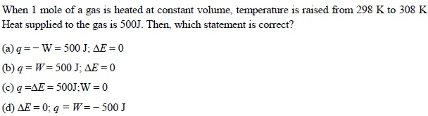 UPSEE Thermodynamics Question 3