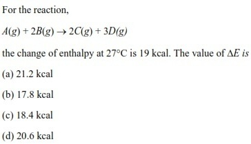 UPSEE Thermodynamics Question 5