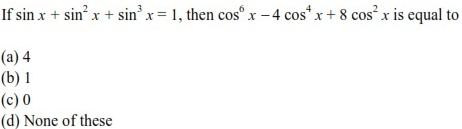 UPSEE Trigonometric Functions Question 3