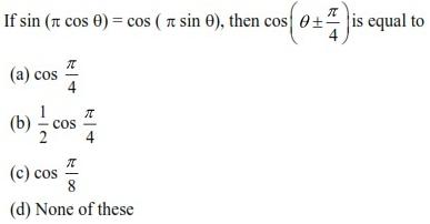 UPSEE Trigonometric Functions Question 5