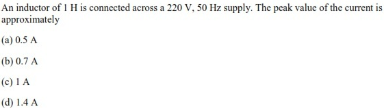 WBJEE Alternating Current Question 4