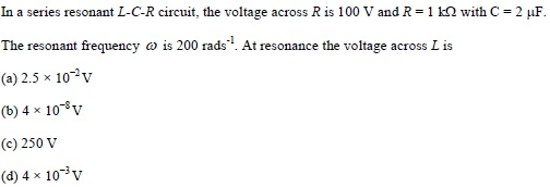 WBJEE Alternating Current Question 2