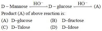 UPSEE Bimolecules Question 1