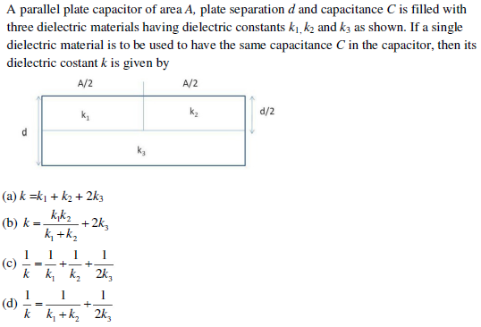 UPSEE Electrostatics question 1