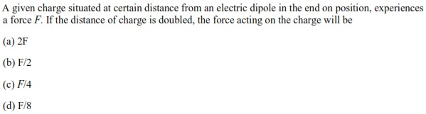 UPSEE Electrostatics question 2