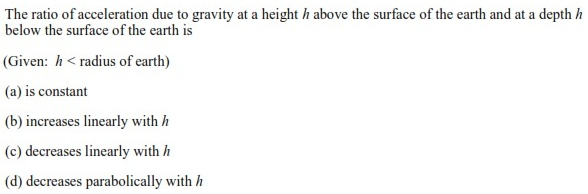 UPSEE Gravitation Question 1