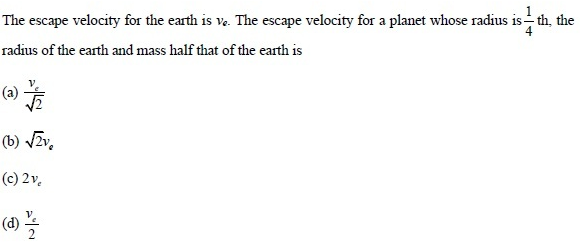 UPSEE Gravitation Question 4