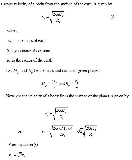 UPSEE Gravitation Solution 4