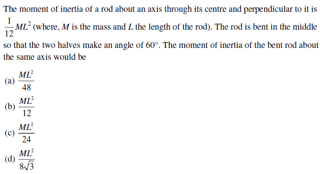 UPSEE rotational motion question 1