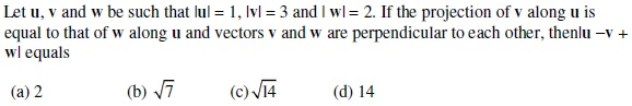 UPSEE Vectors Question 2