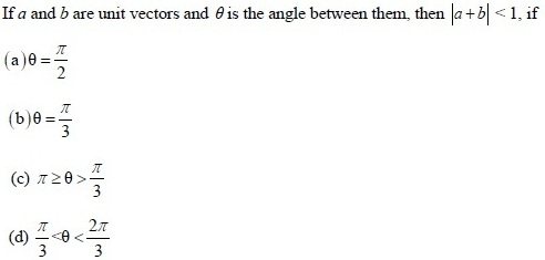 UPSEE Vectors Question 4