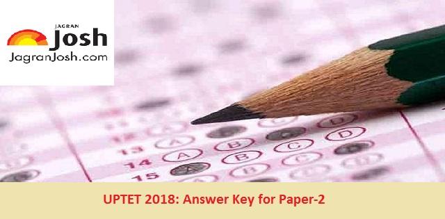 uptet 2018 answer key paper 2