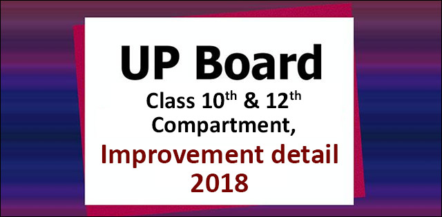 UP Board Compartment and Improvement Exam 2018