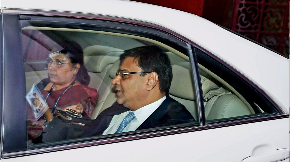 urjit patel in car