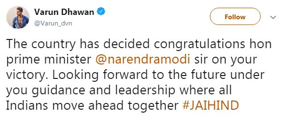 Varun Dhawan Tweet
