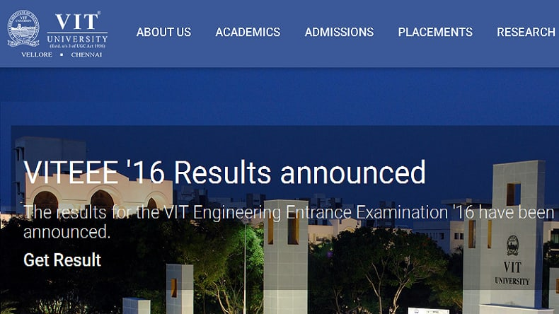 VITEEE 2017 Results Declared: Visit vit.ac.in To Check Score Card, Marks
