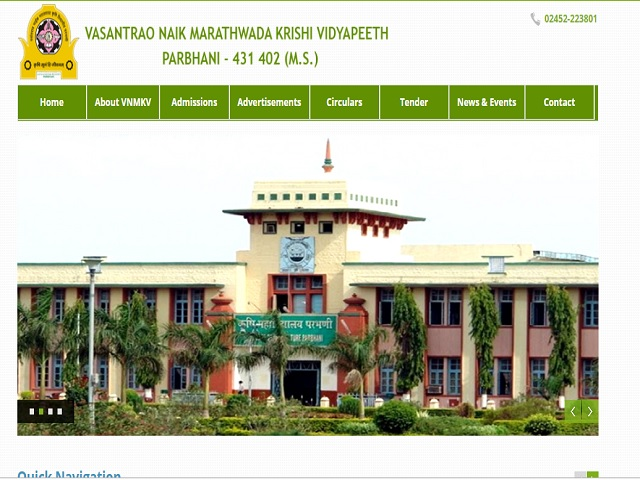 VNMKV Senior Research Fellow, Junior Research Fellow and Research Associate Posts 2019