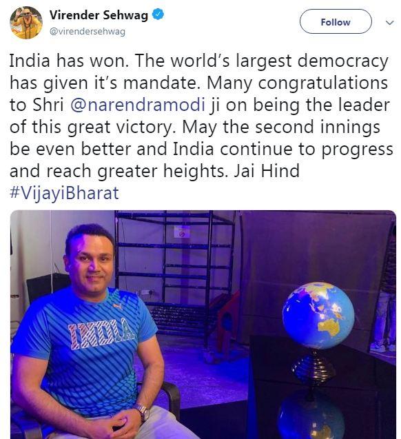 Virendra Sehwag Tweet