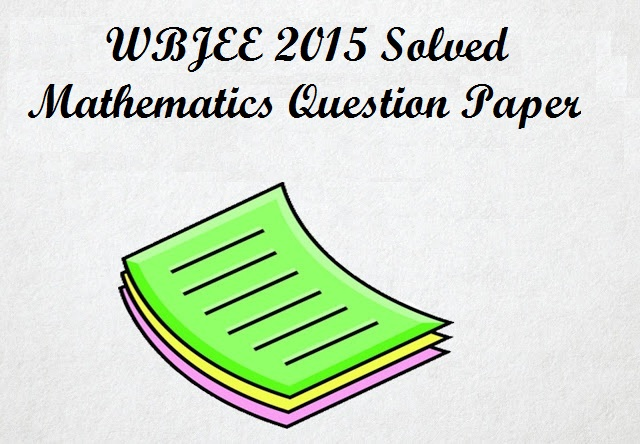 WBJEE 2016, Previous Year Paper