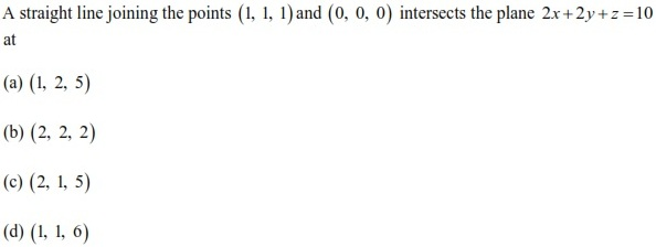 WBJEE Three Dimensional Geometry Q1