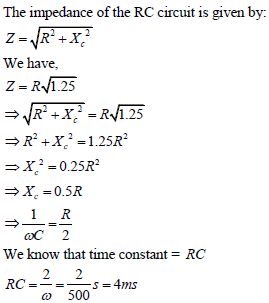 WBJEE Alternating Current Solution 1