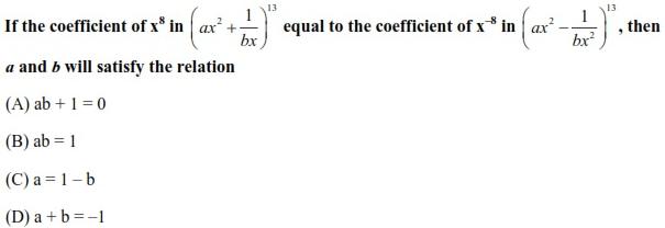 WBJEE Binomial Theorem Question(5)