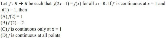 WBJEE Continuity Question 2