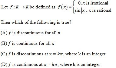 WBJEE Continuity Question 4
