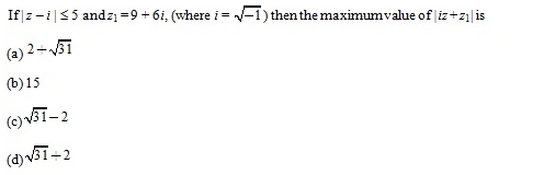 WBJEE Complex number Question 5