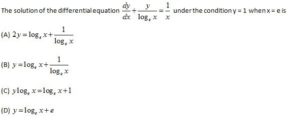 WBJEE Differential Equations Q1