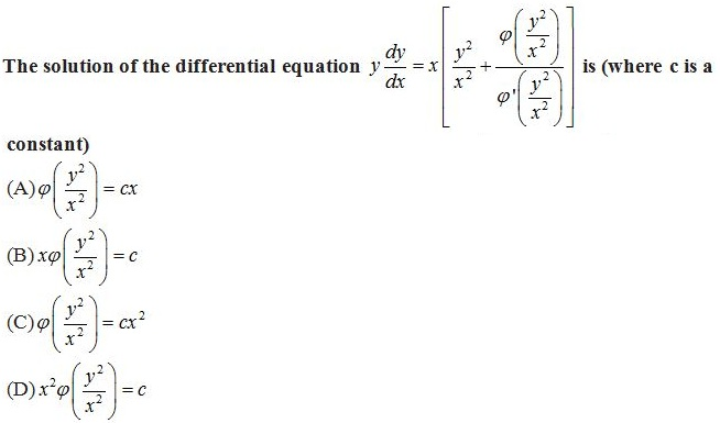 WBJEE Differential Equations Q4