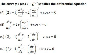 WBJEE Differential Equations Q5