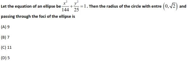 WBJEE Ellipse Question 1