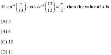 WBJEE Inverse Trigonometric Functions Q4
