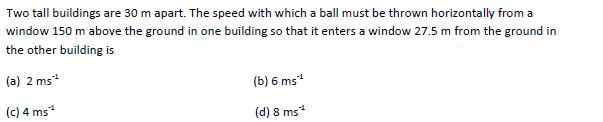 WBJEE Kinematics Question 1