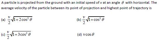 WBJEE Kinematics Question 3