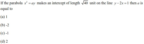 WBJEE Parabola Question 3