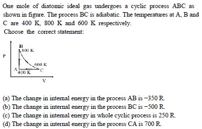 WBJEE Thermodynamics Question 1