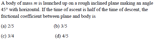 WBJEE laws of motion question 5