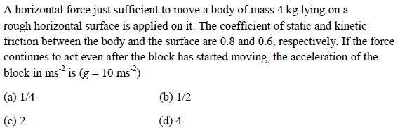 WBJEE laws of motion question 1