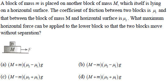 WBJEE laws of motion question 3