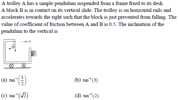 WBJEE laws of motion question 4