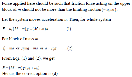 WBJEE laws of motion solution 3