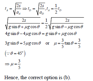 WBJEE laws of motion solution 5